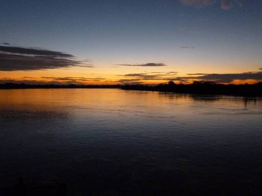 Sunset on the rio Marañon