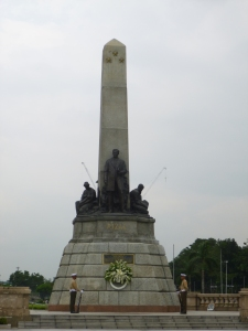 Monument to national hero, renaissance man Jose Rizal.