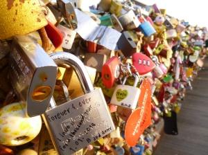 Love locks at Namsan