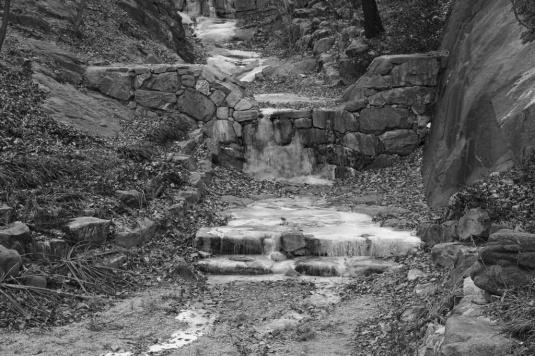 Wintry beauty Icy streams
