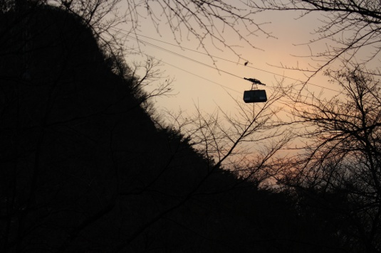 Cable car on Namsan