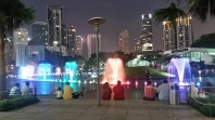 Dancing fountains at the KLCC