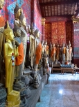 Buddha figures at Wat Xieng Thong