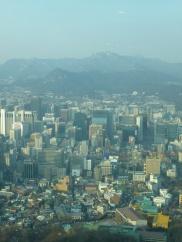 The city sprawls