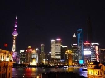 Shanghai skyline by night
