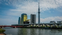 Across the river in Asakusa