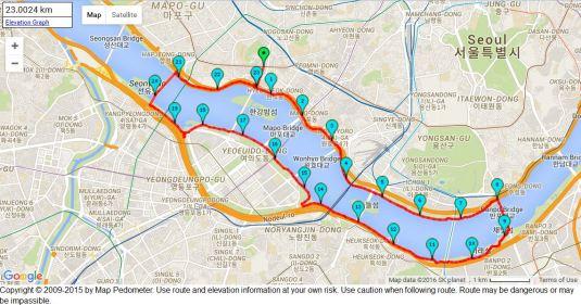 Hangang half marathon circuit