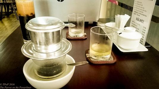 Traditional drip coffee