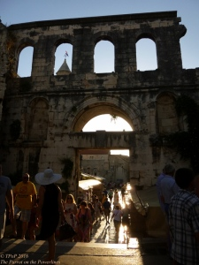 The sun sets on Diocletian's palace