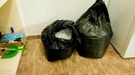 bin bags of shredded paper 'browns'