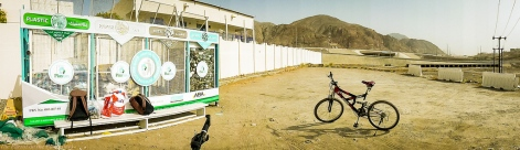 panorama - picturesque recycling centre