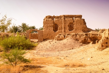 ruins of a mud-brick building
